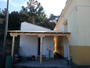 Grundschule Spendenprojekt Kindertoiletten Neue Türe und Überdachung