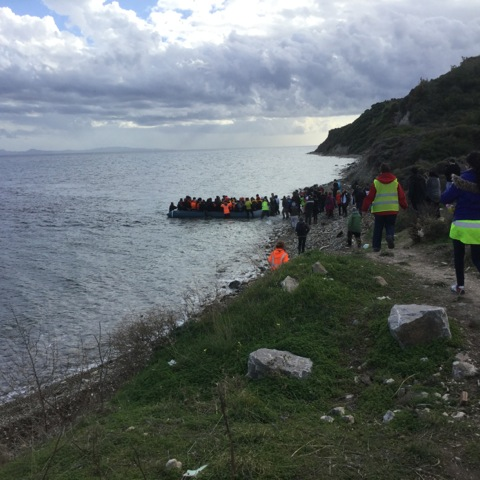 Lesbos Flüchtlinge Ankunft im Schlauchboot