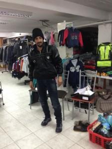 Lesbos Ausgerüstet für den weiten Weg vor ihm