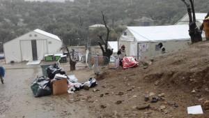 Lesbos Flüchtlingsunterkünfte